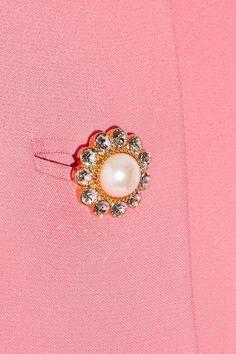 Miu Miu - Cropped Embellished Crepe Jacket - Pink - IT40