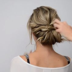 Hair Tutorial for Short Hair! Hair Tutorial for Short Hair! ,Frisur Hair Tutorial for Short Hair! Related Creative DIY Ideas for The Outdoors - romantische Hochzeitsfrisuren - BraidHER. How-To: Two Braids Tutorial. Easy Hairstyles For Long Hair, Elegant Hairstyles, Braided Hairstyles, Thin Hair Updo, Step Hairstyle, Hairstyle Ideas, Updos For Fine Hair, Hairstyle Short Hair, Wedding Hair For Short Hair