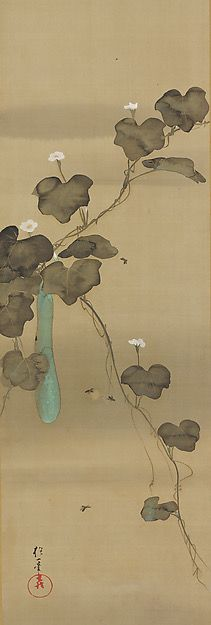 June. Birds and Flowers of the Twelve Months. Sakai Hōitsu (Japanese, 1761–1828) Period:Edo period (1615–1868) Date:ca. 1817–28 Culture:Japan Medium:Set of twelve hanging scrolls; ink, color, and gold paint on silk