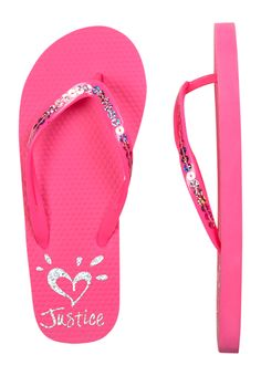 Sequin Flip Flops (original price, 8.90) available at #Justice