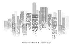 Find Urban Landscape Dotted Skyscrapers Silhouette Isolated stock images in HD and millions of other royalty-free stock photos, illustrations and vectors in the Shutterstock collection. Contour Line Art, Cityscape Art, City Background, Logo Design, Graphic Design, City Illustration, Art Pop, Urban Landscape, Office Ideas