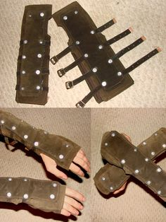 Leather gloves by xGryphus.deviantart.com on @deviantART