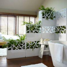 cloison vegétale pour séparer chambre et salle de bain