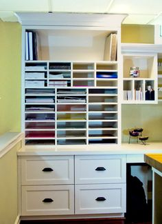Scrapbooking Room traditional home office