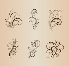 Muster P Collection of Floral Design Elements Vector Illustration Optimal Humidity Level Preserves Y Wood Burning Crafts, Wood Burning Patterns, Wood Burning Art, Wood Crafts, Bild Tattoos, Swirl Design, Design Design, Free Vector Graphics, Pyrography