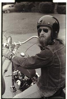Bikers, Hipster Motorcyclists, Shopper, Retro, Open Face Helmet