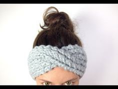 MORE VIDEO TUTORIALS HERE: http://www.youtube.com/user/TuteateTeam This step-by-step tutorial shows you how to loom knit a criss-crossed turban headband / ea...