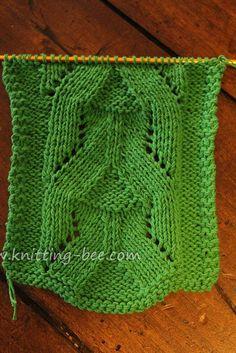 Eyelet Pyramid Knit stitch