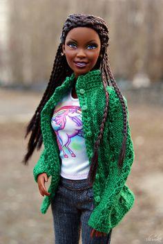 Shared by Carla Beautiful Barbie Dolls, Vintage Barbie Dolls, Afro, Diy Barbie Clothes, Doll Clothes, Beautiful Black Babies, Diva Dolls, African American Dolls, Black Barbie