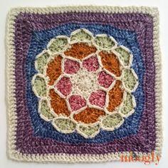 Block Square - beautiful FREE crochet square pattern on Moogly! Moogly Crochet, Grannies Crochet, Crochet Squares Afghan, Crochet Blocks, Granny Square Crochet Pattern, Crochet Motif, Free Crochet, Crochet Patterns, Granny Squares