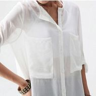 "Camisa ""Transparência"" - Preta ou Branca"