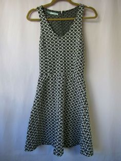 857a9b6e03dea Maurices S Black White Geo Print Knit Racerback Sleeveless Sweater Skater  Dress #Maurices # ...