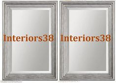bathroom mirrors with silver frames - Google Search