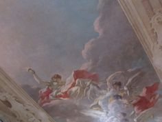 Ceiling mural in the library at the Biltmore Estate
