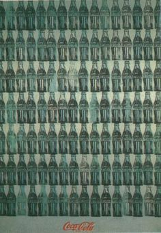 Green Coca-Cola Bottles, by Andy Warhol, Synthetic polymer, silkscreen ink, and graphite on canvas. Whitney Museum of American Art. Andy Warhol, Marcel Duchamp, Alphonse Mucha, Pop Art, Caravaggio, Richard Hamilton, Coca Cola Bottles, Whitney Museum, Art History