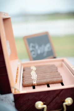 cigars for the men at the wedding!