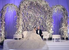 GEMMA AND MOHAMMED'S LAVISH BEIRUT WEDDING | Wedded Wonderland White Bridesmaid Dresses, Wedding Dresses, Elegant Wedding Cakes, Wedding Stage, Dress Rings, Reception Decorations, Wedding Engagement, Wedding Planner, Wedding Invitations