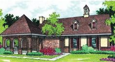 House Plan 048-00024 - Traditional Plan: 1,193 Square Feet, 3 Bedrooms, 2 Bathrooms