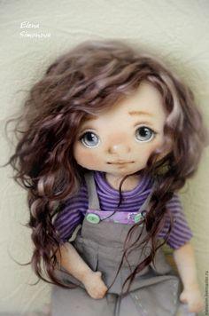 Adorable fabric doll / Купить Аврора - сиреневый, коллекционная кукла…