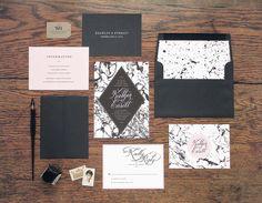 Marble Invitations by Rachel Marvin Creative