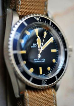 Vintage Submariner x Canvas Strap #rolex #watch