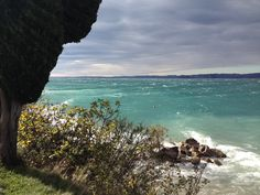 Temporale al compungi spiaggia d' oro  Verona. Italia
