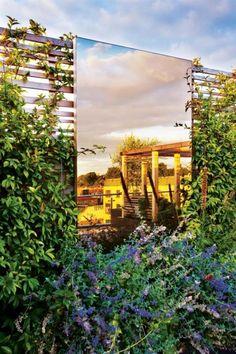 Garten Auf Der Dachterrasse Modernem Design Widerspiegelung Sichtschutz,  Modernes Design, Dachterrasse, Balkon,