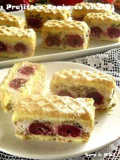 » Prajitura Rumba cu visineCulorile din Farfurie Just Desserts, Dessert Recipes, Romanian Desserts, Torte Recipe, Cake Videos, Sweet Tarts, Homemade Cakes, Cake Cookies, Food And Drink
