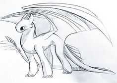 Light Fury the White Night Fury dragon sketch drawing How To Train Dragon, How To Train Your, Cute Disney Drawings, Cute Drawings, Cool Sketches, Drawing Sketches, Drawing Drawing, Animal Sketches, Animal Drawings