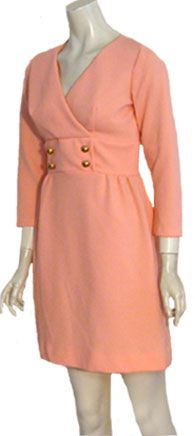 Twiggy Style Vintage Mod 1960s Dress