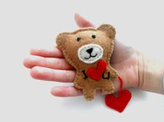 Valentines day brooch Teddy bear brooch Bear by bboutiquebeauties