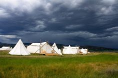 Our Glamping site in West Yellowstone, MT just before a storm.  www.mtundercanvas.com