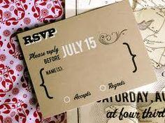 Vintage style wedding rsvp postcard diy printable file for The meaning of rsvp in invitation cards