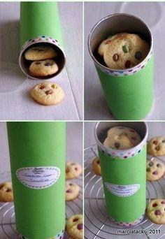 Boîte à biscuits recyclée (boîte pringles)