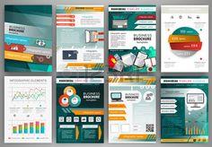 Abstract vector backgrounds und Brosch ren f r Web und mobile Anwendungen Business und Technologie I Lizenzfreie Bilder