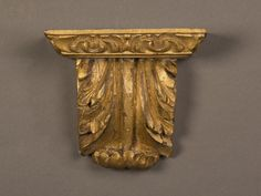 small carved and gilded wooden wall bracket from Italy c. Wooden Brackets, Wall Brackets, Wooden Walls, Image Search, Carving, Italy, Vase, Home Decor, Wood Walls