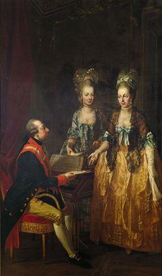 Joseph II, Holy Roman Emperor with Maria Anna and Archduchess Maria Elisabeth.