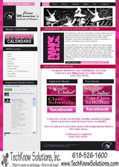 Jane Mannion School of Dance Website #techknowsolutions