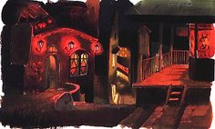 Film: Spirited Away (千と千尋の神隠し) ===== Background Design: Town Of Spirits ===== Hayao Miyazaki