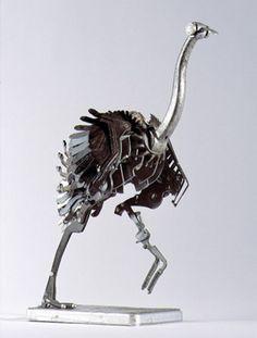 Animal Sculptures Made from Scrap Metal