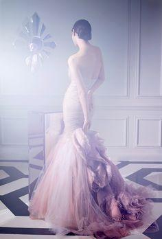 Dramatic Pastel Wedding Dress