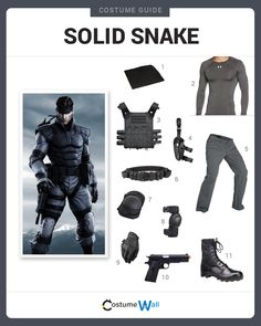 Dress like Solid Snake from Metal Gear Solid. Get cosplay inspiration and more Solid Snake costume ideas.