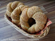 World Bread Day 2020: Simit – Türkische Sesamringe   Paprika meets Kardamom Bread Baking, A Food, Bagels, Dough Bowl, Turkish Recipes, Baking