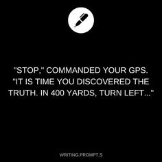 Stop for truth. Writing prompt