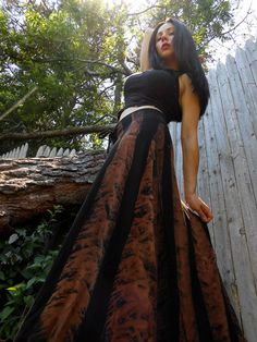 This skirt could be a great Dance costume paired with the top I'm about to post from the same shop. Steampunk Goth Victorian Post Apocalyptic Boho by AnansiTheSpider, $38.00