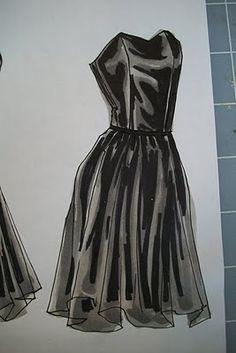 Fashion Illustration for Designers & Illustrators: Marker Demo - Chiffon