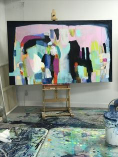 I took this photo of my painting last night. It has completely changed, since I started it, and I'm feeling the momentum. Still more work to be done on it, today. It's starting to make more sense to me now. #clairedesjardins #clairedesjardinsart #painting #originalpainting #originalartwork #originalart #abstractart #abstractartwork #abstractpainting #abstractexpressionism #colour #color #pink #navy #navyblue #wip #artinprogress #paintinginprogress #paintingforsale #workinprogress