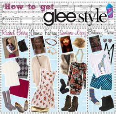 """How to get glee style"" by planetlipstick ❤ liked on Polyvore"