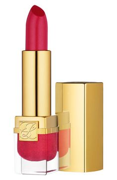 Estée Lauder 'Vivid Shine - Pure Color' Lipstick - review winner from Real Simple for long-lasting and moisturizing.