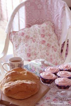 tea and pink cupcakes - what more do you need?